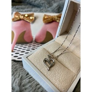 Diamond Encrusted Heart Shaped Necklace